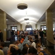 Students fill 1st floor of Keen Johnson for Big E Welcome