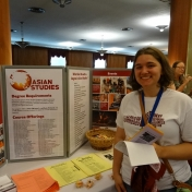Female student attends Big E Welcome