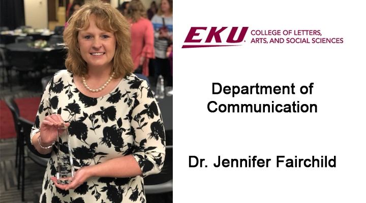 Dr. Jennifer Fairchild, Department of Communication