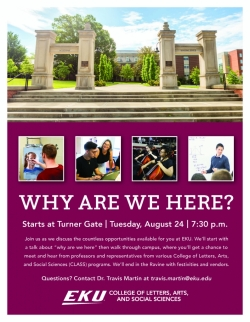 Come to Turner Gate and find answers @ 7:30 on Tuesday August 24.